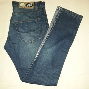 Cheap Monday Jeans blue with bleached leg 30/32